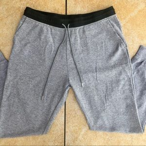 T by Alexander Wang Leather Waistband Sweatpants